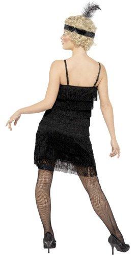 erwachsene 20er jahre kleid mit stirnband schwarz gr e s. Black Bedroom Furniture Sets. Home Design Ideas