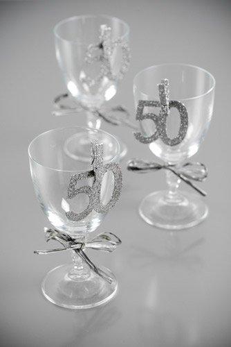 50 glitter deko silber metallic 6 st ck. Black Bedroom Furniture Sets. Home Design Ideas