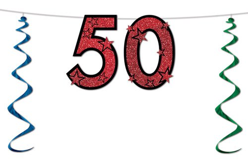 50 geburtstag glitzer deko for Deko geburtstag 50