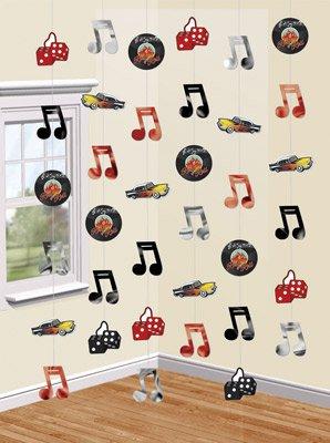 50er jahre schallplatten h nge deko. Black Bedroom Furniture Sets. Home Design Ideas