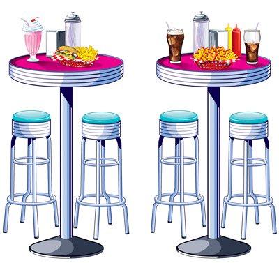 50er wand deko elemente bar tische bar hocker. Black Bedroom Furniture Sets. Home Design Ideas
