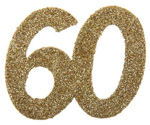 60 glitter deko gold metallic 6 st ck. Black Bedroom Furniture Sets. Home Design Ideas