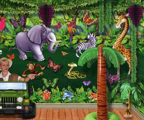 Dschungel lichtung wanddeko - Dekoration dschungel ...