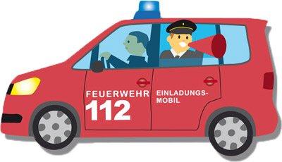einladungskarten - feuerwehrauto | fixefete.de, Einladung