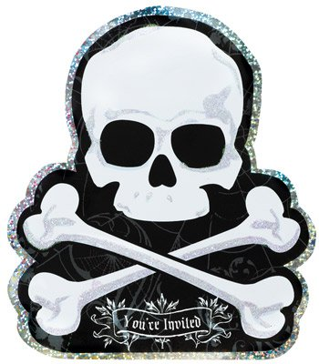 Einladungskarten   Halloween Totenkopf