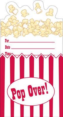 einladungskarten - kino-party - popcorn | fixefete.de, Einladungsentwurf