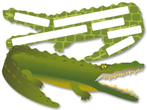 einladungskarten krokodil fixefetede