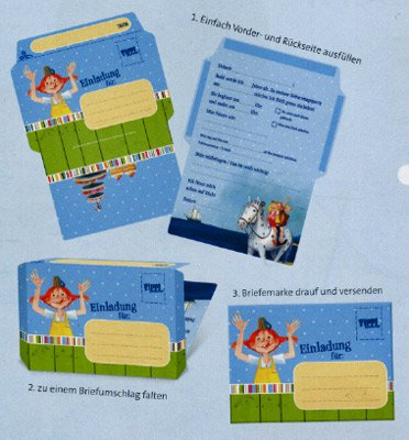 Einladungskarten - Pippi Langstrumpf | fixefete.de