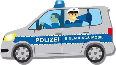 Einladungskarten   Polizei