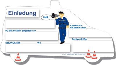 Einladungskarten - Polizei | fixefete.de