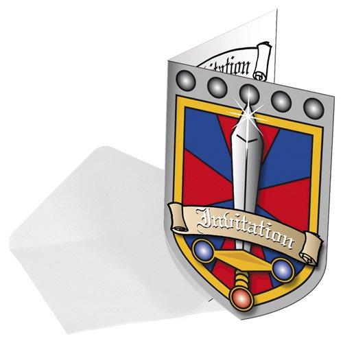 Einladungskarten   Ritter   Burgwappen