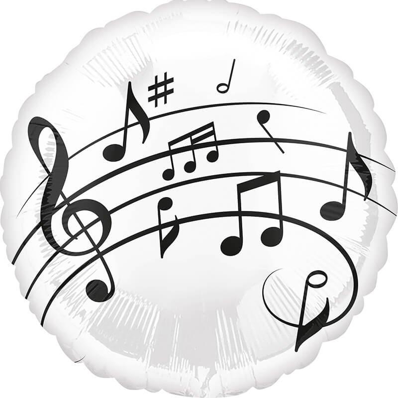 folienballon  musiknoten  notenschlüssel schwarzweiß