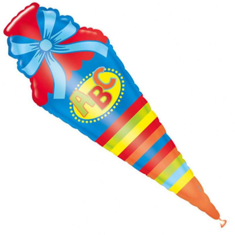 folienluftballon  zuckertüte  schultüte  fixefetede