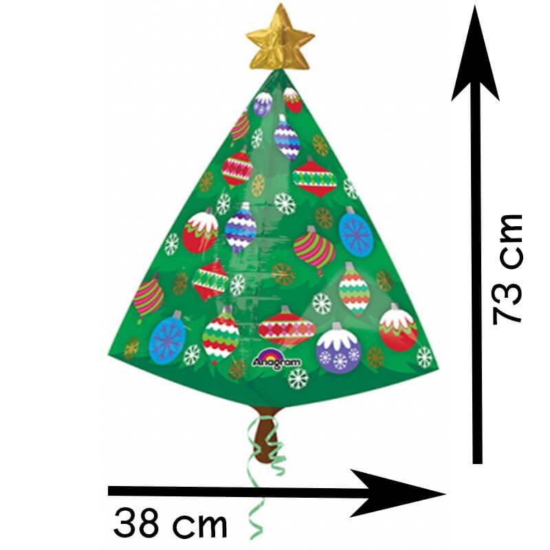 weihnachtsbaum mit stern folienballon weihnachtsdeko. Black Bedroom Furniture Sets. Home Design Ideas