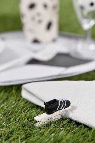 fu ball deko holzklammern fu ballschuh 6 st ck. Black Bedroom Furniture Sets. Home Design Ideas