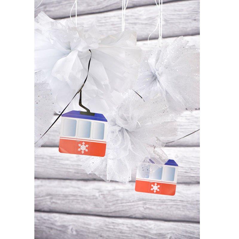 apres ski party deko seilbahn girlande. Black Bedroom Furniture Sets. Home Design Ideas