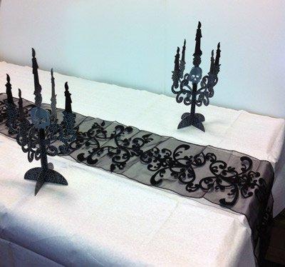 gruselparty tischl ufer schwarz. Black Bedroom Furniture Sets. Home Design Ideas