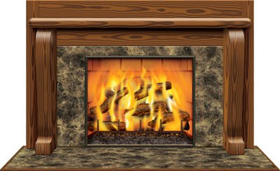 kamin wand deko element. Black Bedroom Furniture Sets. Home Design Ideas