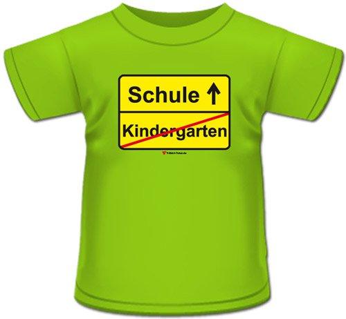 kindergarten schule t shirt apfelgr n gr 122 128. Black Bedroom Furniture Sets. Home Design Ideas