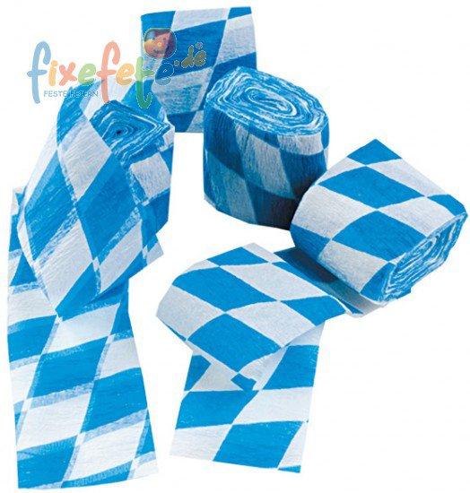 krepp deko band bayerische raute wei blau. Black Bedroom Furniture Sets. Home Design Ideas