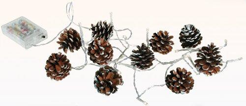 Led lichterkette tannenzapfen mit schnee for Bilder mit lichterkette