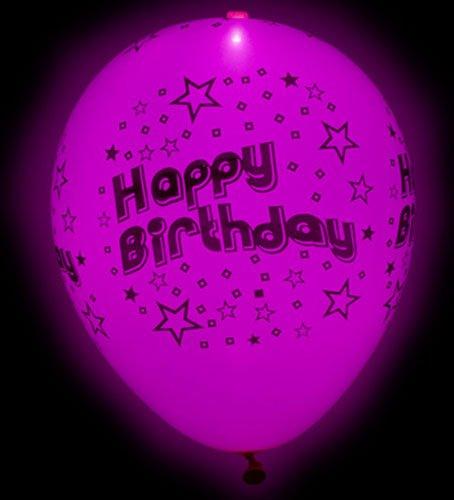 led luftballons happy birthday. Black Bedroom Furniture Sets. Home Design Ideas