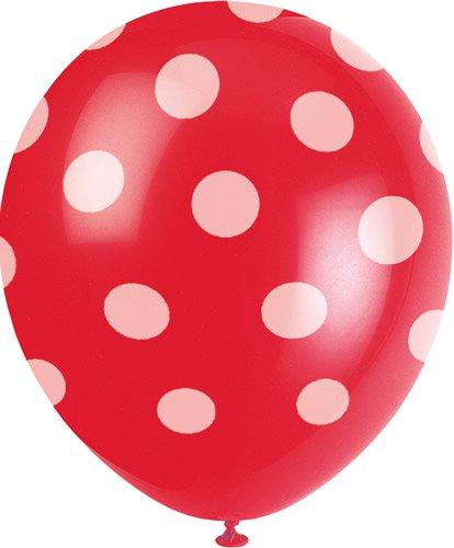 Rote Tapete Mit Wei?en Punkten : Luftballons Motiv-Ballons Luftballons – rot mit wei?en Punkten