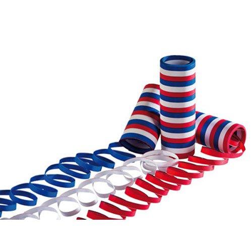 Luftschlangen - Blau-weiß-rot