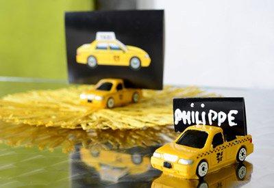 new york taxi yellow cab tischkartenhalter. Black Bedroom Furniture Sets. Home Design Ideas