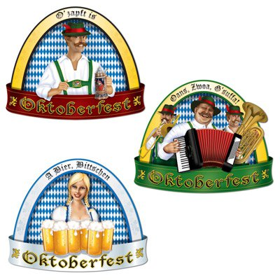 oktoberfest deko set. Black Bedroom Furniture Sets. Home Design Ideas