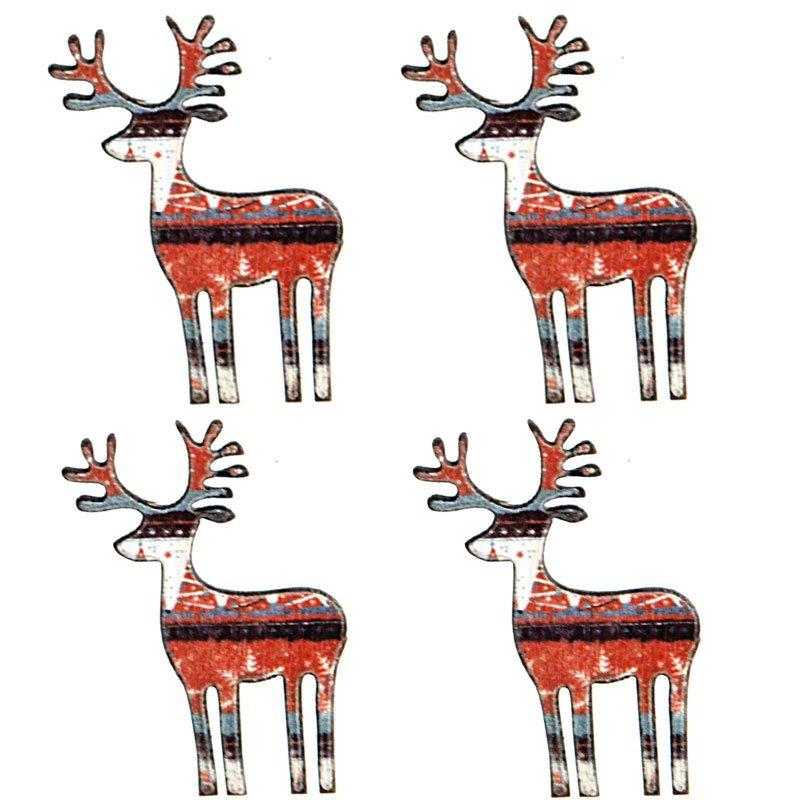 nordische weihnacht rentier streudeko. Black Bedroom Furniture Sets. Home Design Ideas