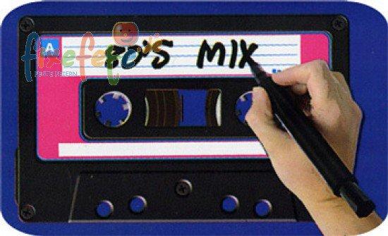 riesen-musik-kassette - wanddeko   fixefete.de, Einladungsentwurf