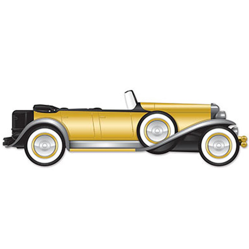 Roadster auto deko goldene 20er for Goldene wanddeko