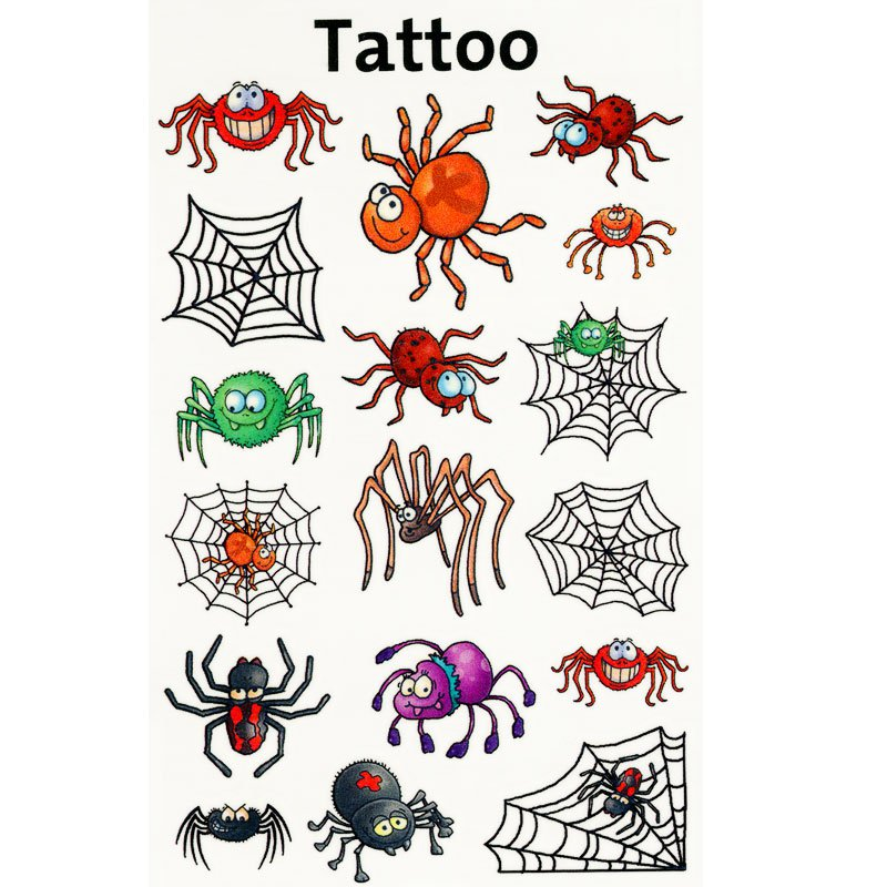 spinnen spinnennetz tattoo witzig. Black Bedroom Furniture Sets. Home Design Ideas