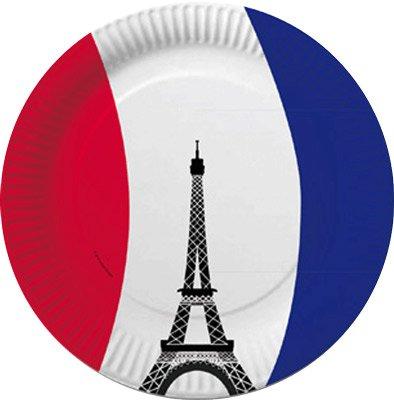 Teller frankreich party eiffelturm kaufen for Frankreich dekoration