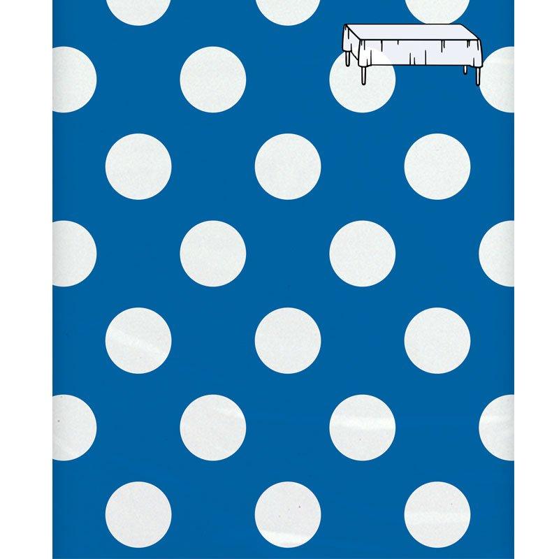 tischdecke blau mit wei en punkten. Black Bedroom Furniture Sets. Home Design Ideas