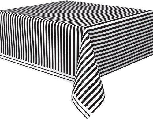 tischdecke schwarz wei gestreift. Black Bedroom Furniture Sets. Home Design Ideas