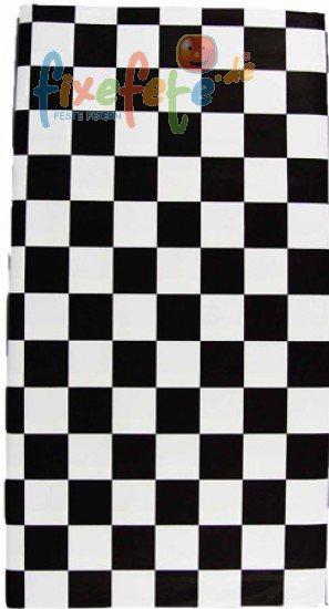Tischdecke - schwarz-weiß kariert | fixefete.de