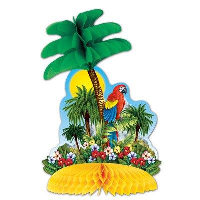 tischdeko palme papagei tropen. Black Bedroom Furniture Sets. Home Design Ideas