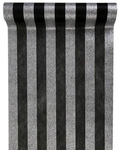 tischl ufer schwarz silber glitter streifen. Black Bedroom Furniture Sets. Home Design Ideas