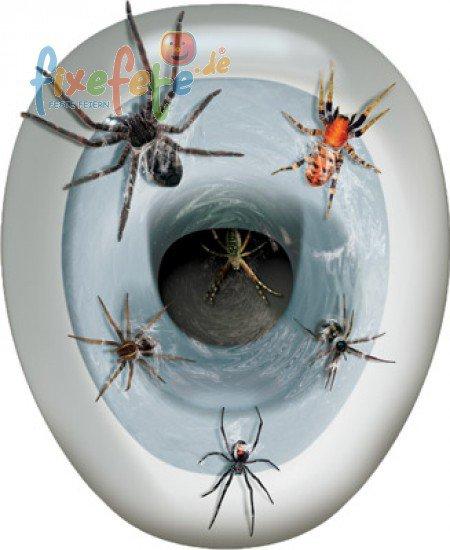 Toiletten deko spinnen selbstklebend for Decoratie wc