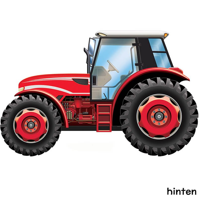 Traktor-Deko riesig - Traktor rot & grün   fixefete.de