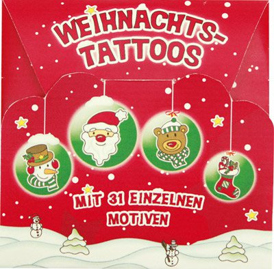 weihnachts tattoos. Black Bedroom Furniture Sets. Home Design Ideas