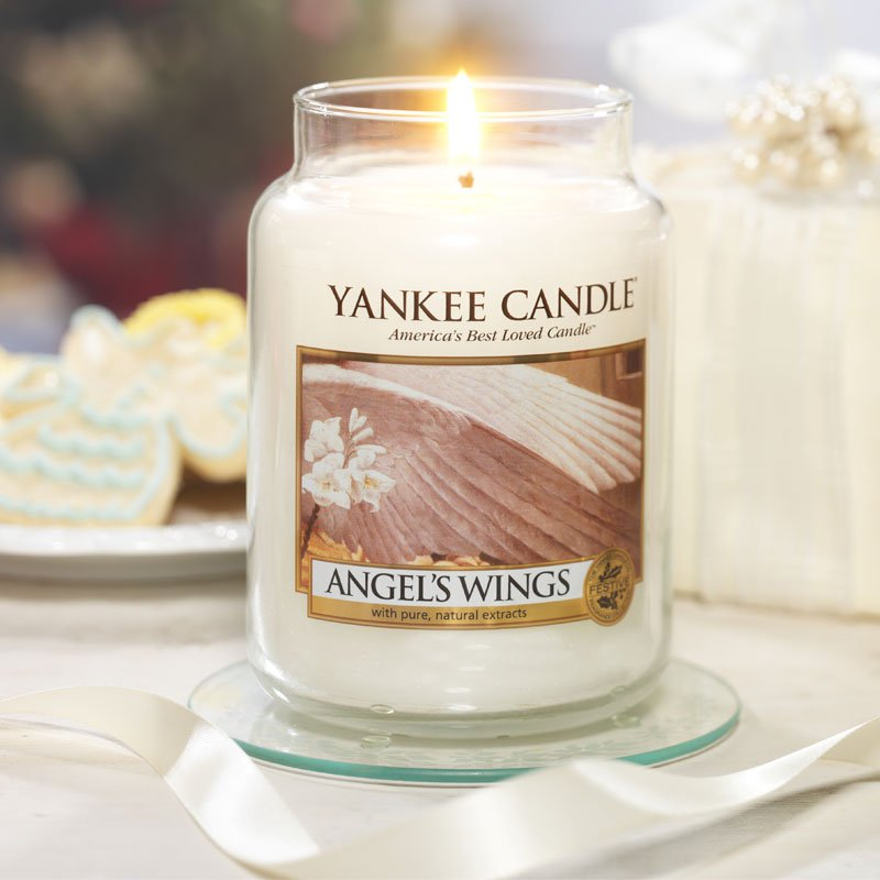 yankee candle duftkerze angel wings kaufen. Black Bedroom Furniture Sets. Home Design Ideas