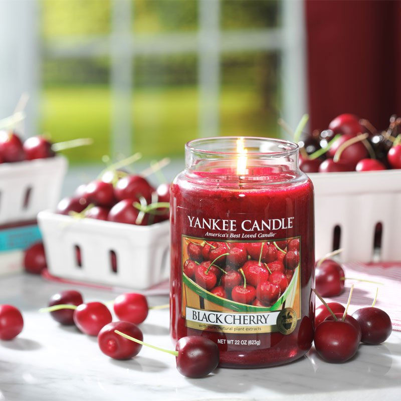 yankee candle duftkerze black cherry kaufen. Black Bedroom Furniture Sets. Home Design Ideas