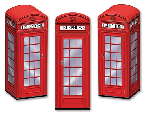 Englische Telefonzelle Geschenkbox Tischdeko 3er Set