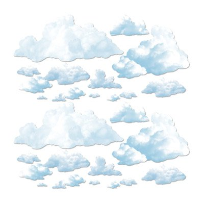 Fluffige Wolken Wand Deko Elemente