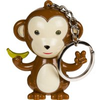 Affe braun mit LED & Monkey-Sound -...