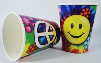 Becher - 60er Jahre - Peace & Flower Power