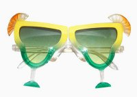 Cocktail-Party - Limette - Partybrille